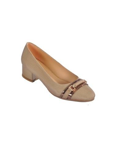 Maje 6067 Platin Kadın Topuklu Ayakkabı Altın